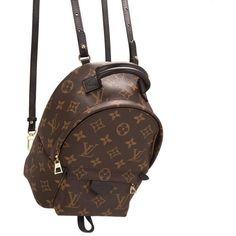 Louis Vuitton Palm Springs Backpack Mini ❤ liked on Polyvore featuring bags, backpacks, backpack, louis vuitton backpack, mini backpack, louis vuitton knapsack, palm tree backpack and monogrammed bags