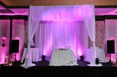 Our Canopy :  wedding fuchsia wedding pink purple reception reception ideas uplights 489
