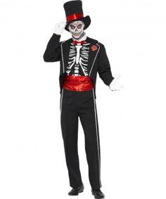 Disfraz de esqueleto elegante Halloween