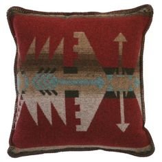 Wooded River Yellowstone II Geometric Square Indoor Pillow - WD24570
