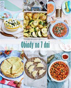 Moja smaczna kuchnia: Obiady na 7 dni Lunch Recipes, Healthy Recipes, Chana Masala, Kids Meals, Recipies, Food And Drink, Menu, Dinner, Cooking