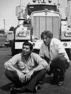 Movin' On (1974–1976) ~~ Drama ~~ A pair of big-rig truckers, one a crusty old veteran, the other a college-educated youngster, team up to haul cargo across the country.