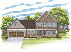 Eplans Traditional House Plan - Three Bedroom Traditional - 2324 Square Feet and 3 Bedrooms from Eplans - House Plan Code HWEPL68540