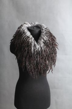 Felted Cowl, sheepskin. The Scandinavian way to wear fur necklet, either felted or sewn of for instance Gotland Landrace sheep skin