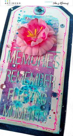 Akwarelowe tło - dwa tagi z użyciem mixed mediowych proszków Rainbow Color Rainbow Colors, Scrapbooking, Rainbow Colours, Scrapbooks, Memory Books, Scrapbook, Notebooks