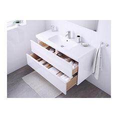 GODMORGON / ODENSVIK Meuble lavabo 4tir - brillant blanc - IKEA