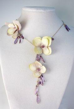 17 Best Floral Images On Pinterest Flower Necklace Silk Flowers