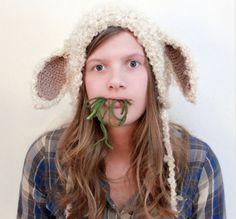 #Crochet Sheep, Ram and Goat Patterns: Crochet Lamb Hat