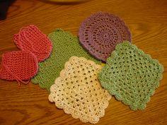 Handmade 100% cotton washcloths at cleomilksoap@aol.com