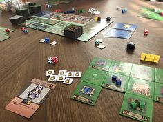 This is one of my favorite Hero's Crossing pictures. You can see the towns for multiple players, the central board,  and all the various components the game throws your way. #boardgames Board Games, Hero, Pictures, Photos, Tabletop Games, Grimm, Table Games