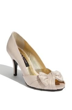 My favorite wedding shoe so far, obviously in yellow! Nina 'Forbes' Peep Toe Pump available at #Nordstrom
