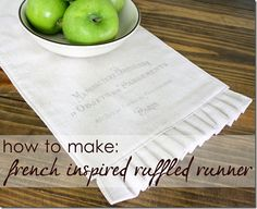 How to make: a French inspired ruffled runner