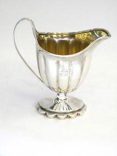 GEORGIAN GEO. III ANTIQUE SILVER MILK / CREAM JUG LONDON 1793 John Bull Antiques  Antique Silver Dealer www.antique-silver.co.uk London, UK. #antiques #interiors #decor #luxury #silver #design #london #england #teaparty #tea