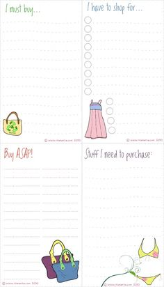 Shopping Lists--a fun gift for the shopaholic
