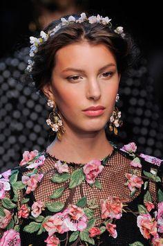 Dolce & Gabbana, Spring/Summer 2014 - flower crown - bridal hair inspiration