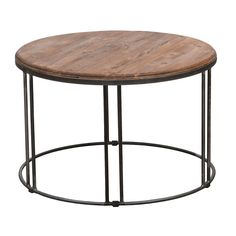 Burnham Reclaimed Wood/ Iron Coffee Table