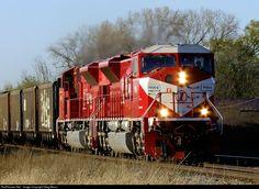 INRD 9004 Indiana Rail Road EMD SD9043MAC at Franksville, Wisconsin by Greg Mross