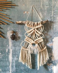 Tenture macrame by LePomponBleu on Etsy