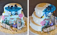 Scuba Diving Wedding Cake | Sugar High Cakes - Custom Cake Decoration for Wollongong, Sydney and The Illawarra