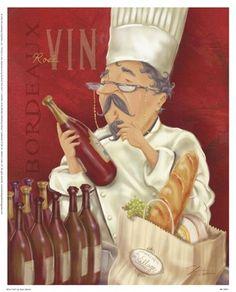 Wine Chef I by Shari Warren