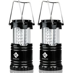 Etekcity 2 Pack Portable Outdoor LED Camping Lantern Flashlights (Black, Collapsible) | Your #1 Source for Sporting Goods & Outdoor Equipment