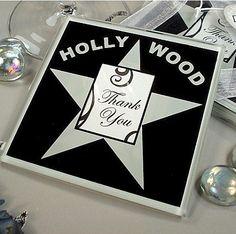 Hollywood Photo Coaster Set | Wedding Favor Discount