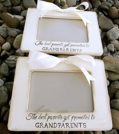Set of 2 Ultrasound Grandparent Picture Frame by PatonLaneDesigns, $60.00