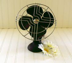 Cast Iron Adjustable Fan - Vintage Metal KoldAir - Industrial Shabby Chic Decor