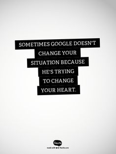 Sometimes Google doesn't change your situation because he's trying to change your heart #seo