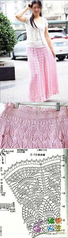 Длинная юбка крючком схема. Вязаные юбки схемы | Все о рукоделии: схемы, мастер классы, идеи на сайте labhousehold.com