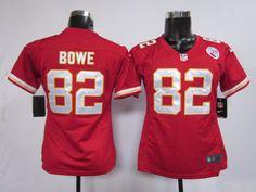 cee50e58d Women s Nike NFL Kansas City Chiefs  82 Dwayne Bowe Red Jerseys