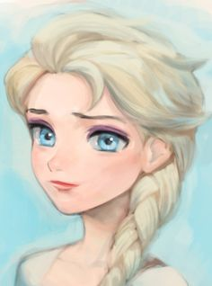Elsa by mingiz.tumblr.com #frozen #disney #fanart
