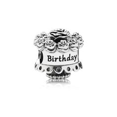 Pandoracharmsales,Inc Pandora Happy Birthday Charm [ Pandora - PANDORA Happy Birthday sterling silver cake charm is adorned with roses and is engraved with Happy Birthday. Celebrate her birthday with style and a treasured charm. Charms Pandora, Pandora Birthday Charms, Pandora Rings, Pandora Bracelets, Pandora Jewelry, Pandora Pandora, Silver Bracelets, Pandora Outlet, Silver Earrings