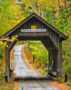 Swamp Meadow Covered Bridge, Foster, Rhode Island