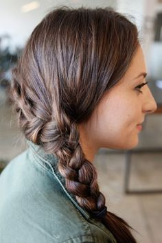 Katniss braid tutorial...I feel like such a nerd for wanting to try it but it really does look pretty cool!