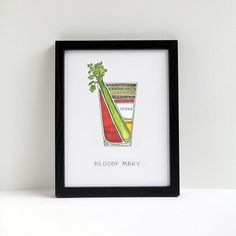 Bloody Mary Cocktail Diagram