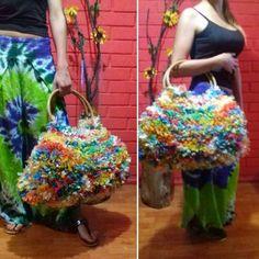 Hermoso Bolso playero hecho con bolsas plasticas!!!!...