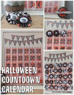 Halloween Countdown Calendar with @Plaid Crafts #MPHalloween ~ * THE COUNTRY CHIC COTTAGE (DIY, Home Decor, Crafts, Farmhouse)