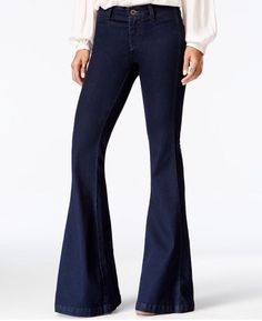 Free People Jeans Dark Flare High Waist 28 x 33 Stretch Soft #FreePeople #Flare