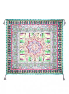 Betty Scarf Add a pop of pattern to your look with the Johnny Was Signature Silk BETTY SCARF! This square silk twill scarf features a whimsical paisley print in rich purple, green, and blue hues.  - Silk Twill - Signature Silk