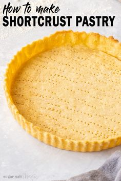 So, you want to know how to make sweet shortcrust pastry and turn it into everything from mini tart Pie Crust Recipes, Tart Recipes, Sweet Recipes, Dessert Recipes, Pie Crusts, Mini Pie Crust, Shortcrust Pastry Tarts, Tart Pastry, Pie Pastry Recipe