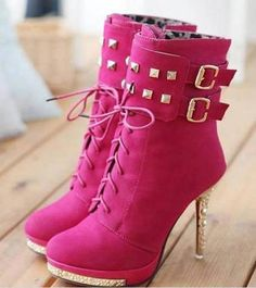 #Sexy High Heeled #Boots . #shoes #heels #fashion #pink