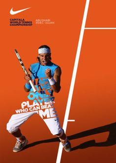 Saved by Brian Danaher (madeforending) on Designspiration. Discover more Typography Nike Tennis Posters inspiration. Sports Graphic Design, Graphic Design Posters, Graphic Design Inspiration, Sport Design, Poster Designs, Creative Inspiration, Graphisches Design, Flyer Design, Design Ideas