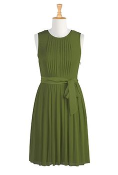I already pinned this dress in yellow, but now I like green. $60 eshakti, custom sleeves and length