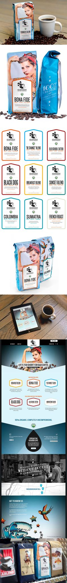 Goshen Coffee packaging and branding by @Identity Designed