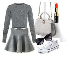 """Untitled #5"" by marie-molo-peter on Polyvore featuring Zara, Converse, Marc by Marc Jacobs and Bobbi Brown Cosmetics"