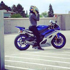 Biker girl on Yamaha Yamaha R6, Moto Bike, Sportbikes, Supersport, Beautiful Wife, Bike Parts, Street Bikes, Biker Girl, Bike Life