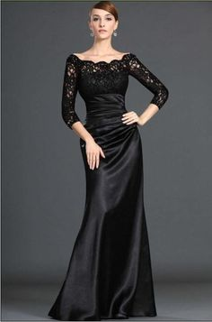 2013 Hot Sale black custom made ! long sleeve lace evening dresses/bridal party prom dress gown