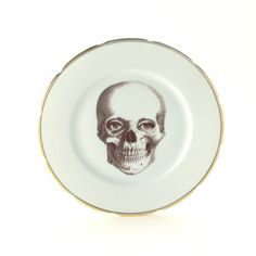 Wall Decor – Altered Skull Eyes Plate Porcelain Anatomy – a unique product by Mona-Lina on DaWanda