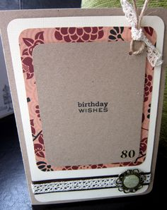 Understated little card for the discrete 80 year old:)